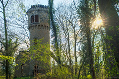 Lost myself just thinking... (OR_U) Tags: sun building green forest germany spring decay ruin oru rapunzel davematthewsband hdr sunflare sunstar 2016 towert harbke rapunzelturm