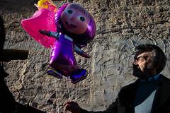 . (Joanna Mrowka) Tags: street man baloon trapani