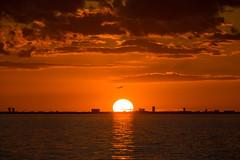 Flying over the Sun (Infomastern) Tags: bridge sunset sea sky cloud sun sol plane himmel bro hav solnedgng flygplan moln sibbarp resundsbron geolocation geocity camera:make=canon exif:make=canon geocountry geostate exif:lens=efs18200mmf3556is exif:focallength=200mm exif:aperture=90 exif:isospeed=100 camera:model=canoneos760d exif:model=canoneos760d