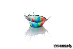 crown #3 (michaelfritze) Tags: art water wasser bubbles drop splash liquids highspeed wassertropfen tropfen tats highspeedphotography fontne liquidart strobist farbtropfen hochgeschwindigkeitsfotografie liquiddrop stopshot michaelfritze