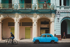 Three people, six wheels (Daniele Zanni) Tags: travel people google flickr havana cuba streetphotography facebook 500px x100s