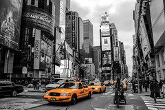 times square 2013 reloaded (tinfrey) Tags: usa yellow cab taxi timessquare february 2013
