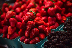 Granville Island Public Market Strawberries (disneymike) Tags: canada fruit vancouver strawberry berry nikon berries bc farmersmarket granville britishcolumbia strawberries fresh baskets granvilleisland nikkor mulberry publicmarket mulberries d4 granvileislandpublicmarket 2470mmf28g