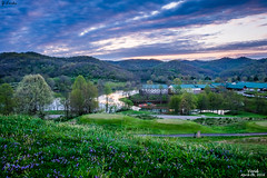 Vivid- April 28, 2016 (zachary.locks) Tags: park morning flowers blue sun lake mountains green water grass clouds sunrise golf spring colorful state bright vivid resort course wv westvirginia stonewall overlooking clubhouse cy365 zlocks