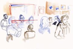 A-Trane Jazzclub  Audience -  Detlef Surrey (Detlef Surrey) Tags: concert jazz sketchbook jazzclub skizze livemusik urbansketches