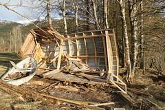 Stormskader etter Tor -|- Damage by winter storm (erlingsi) Tags: norway damage rowboat tor volda sunnmre robt noreg naust skader vassbotn stormskader stormentor