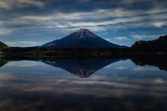 Midnight Reflections (Yuga Kurita) Tags: lake reflection nature japan reflections landscape landscapes fuji mt mount fujisan shoji fujiyama shojiko
