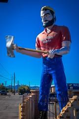 A life-size Paul Bunyan in Tucson, Arizona.