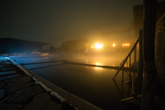 Hot Springs Pool At Night (Rustic Lens Photography) Tags: old travel sky usa mountains hot west reflection water pool fog night stars relax rustic relaxing peaceful steam resort idaho clear springs western themed burgdorf