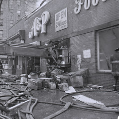 2016-01-07 Throwback Thursday from 1976 (1) (Official New York City Fire Department (FDNY)) Tags: york nyc rescue building water vintage fire smoke flames collapse firefighting 1970s firefighter fdny tbt new city super fire engine truck thursday aerial ladder suppression throwback pumper