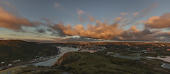 Single Shot Panorama (Andrew G Robertson) Tags: city panorama cloud sun 3 st skyline clouds sunrise canon newfoundland eos dawn cityscape angle iii hill wide stjohns wideangle 5d rise signal 11mm ultra johns mk mkiii mk3 ultrawideangle newfoundlandandlabrador 1124mm canon5dmkiii canonef1124mmf4lusm canon1124mm canon1124mmf4