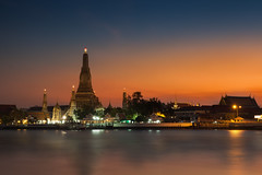 Wat Arun Ratchawararam Ratchawaramahawihan (JikKiEJang) Tags: city travel sunset holiday tower tourism water beautiful silhouette skyline architecture night sunrise river thailand religious temple dawn boat twilight ancient shrine asia cityscape dusk bangkok background stupa traditional famous religion culture buddhism landmark east thai attract spirituality southeast oriental chao wat vacations chaopraya attraction arun chedi phraya prang