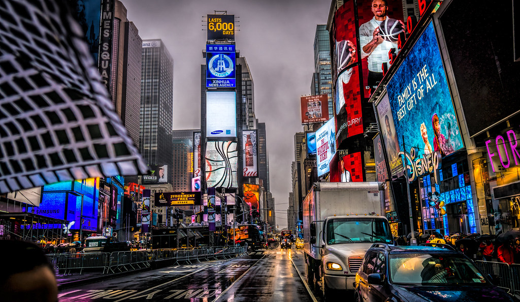73ba03c3fc The Brollies Are Out   Times Square (Gordon McCallum) Tags  nyc newyork rain