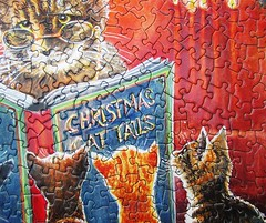 Cat Tales (Chrissie Snelling) (Leonisha) Tags: detail puzzle jigsawpuzzle