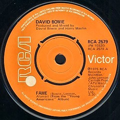 David Bowie - Fame single (1975) (The Wright Archive) Tags: new york orange david records electric lady john bowie song label fame carlos turntable single 1975 record 70s 1970s studios lennon seventies rca alomar