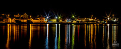 Harbour Lights (Impact Imagz) Tags: nightphotography light colour boats lights scotland nightscape nightshot harbour fishingboats fishingboat westernisles sodium isleoflewis harbourlights stornoway outerhebrides sodiumlights stornowayharbour
