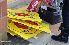 DSC_2549A (jane.hards) Tags: street people yellow demo protest streetphotography lancashire banners anti blackpool causes nanas placards appeal fracking frackfreefylde