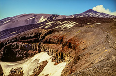 Old crater on Mount Etna (Mister Electron) Tags: italy slr film 35mm volcano kodak outdoor slide adventure crater transparency sicily analogue volcanoes volcanic vulcano mtetna diapositive vulcanism nikonf70 mountetna slidecopier e100s volcaniceruption vulcanology slidecopying ekatchrome