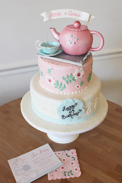 Tea Time Party Birthday Cake