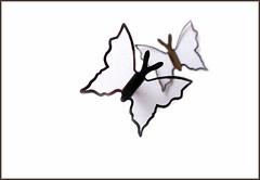 Light ... (Jan Gee) Tags: white paper shapes butterflies form outlines schmetterlinge vlinders papillons