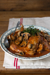 Lapin Marengo (crummblle) Tags: food rabbit french mushrooms cuisine dish famous tomatoes meat poultry classical lapin marengo plat