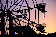 mid-winter's carnival (what's_the_frequency) Tags: carnival winter sunset arizona orange southwest wheel silhouette night circle fun chair ride purple desert dusk empty slide coloradoriver ferriswheel february wintertime 18200 southwestus lightbox bullheadcity americansouthwest desertsouthwest southwesternus sigma18200 mohavecounty calnevari coloradorivervalley d5100 52project2016