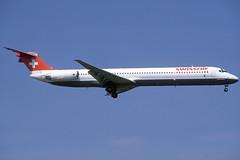 Swissair MD-81 HB-INE BCN 02/09/1995 (jordi757) Tags: barcelona airplanes bcn douglas avions mcdonnell swissair elprat md81 lebl hbine
