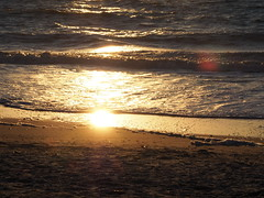 Sunset at the beach (pilechko) Tags: ocean light sunset sea sun sunlight color beach gulfofmexico water evening florida captiva