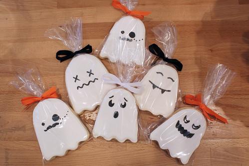 Spooky Ghost Sugar Cookies