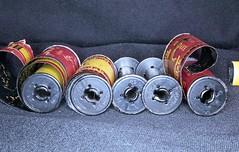 metal reels (rentavet) Tags: ringlight nikkormatel micronikkor55mmnonai walgreens200asaexp2009