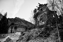 Gone glories - part 2 (Alberto Cassandro) Tags: california blackandwhite italy blackwhite nikon ruins ghost ghostvillage 2015 valledelmis nikond810 albertocassandrophotography