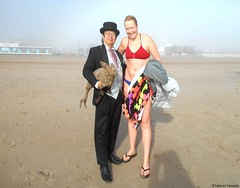 Dr. Takeshi Yamada and Seara (Coney Island Sea Rabbit) at the winter swimming event by the Coney Island Polar Bear Club at the Coney Island Beach in Brooklyn, New York on January 10 (Sun), 2015.  mermaid. 20160110Sun DSCN3358=pC1 (searabbits23) Tags: winter ny newyork sexy celebrity art beach fashion animal brooklyn asian coneyisland japanese star yahoo costume tv google king artist dragon god cosplay manhattan wildlife famous gothic goth performance pop taxidermy cnn tuxedo bikini tophat unitednations playboy entertainer samurai genius donaldtrump mermaid amc mardigras salvadordali billclinton hillaryclinton billgates aol vangogh curiosities bing sideshow jeffkoons globalwarming takashimurakami pablopicasso steampunk damienhirst cryptozoology freakshow barackobama polarbearclub seara immortalized takeshiyamada museumofworldwonders roguetaxidermy searabbit ladygaga climategate