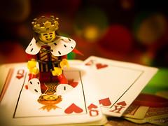 Save my Queen! (legomeee) Tags: king lego queen playingcard legominifigs legominifigures series15 legolife legophotography legophoto legography legominfigs legoaccessory