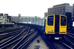 Slide 046-20 (Steve Guess) Tags: uk england london electric train rail southern waterloo gb british lambeth class508 508009 508008