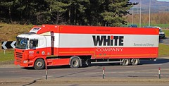 SCANIA G380 - WHITE & Company Removals Forres (scotrailm 63A) Tags: trucks removals lorries