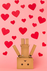 Head Over Heels in Love (Arielle.Nadel) Tags: stilllife valentinesday yotsuba danbo toyphotography revoltech danboard canon5dmarkiii