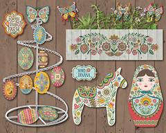 MARY_TANANA_WOOD_HD2_WK5 (Groovity Designs) Tags: wood horse tree butterfly doll folk egg planter maiden matryoshka dala folky pysanky wycinanki eastewr makeartthatsells makeitindesign