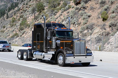 Unknown Kenworth W900L Tractor (CA) (Trucks, Buses, & Trains by granitefan713) Tags: tractor bobtail sleeper 18wheeler kenworth tractortrailer bigrig largecar longhood trucktractor kenworthtruck w900l kenworthw900l sleepertractor shaprtruck