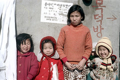 31-431 (ndpa / s. lundeen, archivist) Tags: city winter girls people color fall film girl smile face smiling kids scarf 35mm children sweater clothing child faces candid coat nick group smiles citylife streetphotography streetlife korea clothes korean seoul hood 1970s southkorea 1972 31 dewolf nickdewolf photographbynickdewolf reel31
