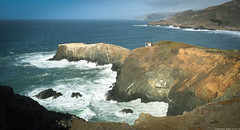 my place (Norscout) Tags: ocean above sea cliff rocks view pacific marin bunker headlands marinheadlands bluff