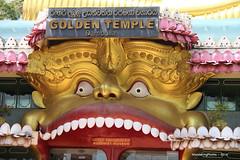 Entrance to the Golden Temple Buddhist Museum - Dambulla Sri Lanka (WanderingPJB) Tags: srilanka dambulla goldentemple entrance teeth buddhism buddhist colourfulworld smileonsaturday thingswithteeth