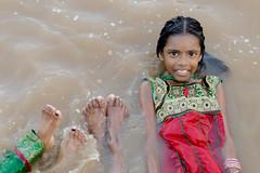 Raw Wet Joy | Mahamaham,Kumbakonam 2016 (vjisin) Tags: travel people india girl smile 50mm nikon asia religion joy holy hinduism tamilnadu southindia nikond3200 travelphotography kumbakonam indiangirl niftyfifty indianheritage mahamaham2016 southindiankumbamela2016