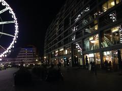 Reflection, big wheel reflecting at rotterdam markthal. (ericduijts) Tags: reflection cozy rotterdam blaak ferriswheel bigwheel reuzenrad iphone bigview markthal