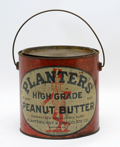 Suffolk, Virginia Planters Peanut Butter Pail w/ Bail Handle - $577.50