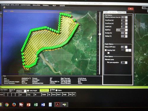 Plotting of UAV flight path_dugong and seagrass survey