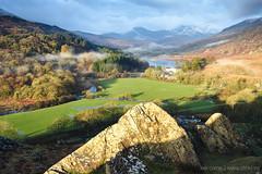 The Pinnacles (leecaine) Tags: uk morning light mist mountain lake mountains rock wales shadows snowdonia
