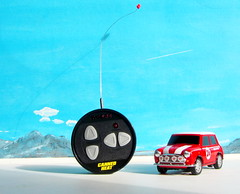 Canned Heat Radio Controlled Mini Cooper By Tyco R/C Mattel Incorporated 1998 : Diorama Boneville Salt Flats - 17 Of 21 (Kelvin64) Tags: by radio salt mini flats cooper heat canned 1998 rc mattel diorama incorporated controlled tyco boneville