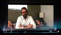 Joern Threlfall (OVER) bedankt sich per Videobotschaft für den BR-Kurzfilmpreis