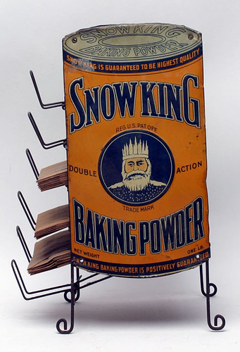 Rare Snow King Baking Powder Bag Display - $1760.00 (Sold October 2, 2015)
