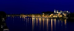 Panorama - Avignon (Ludo_M) Tags: voyage city longexposure trip travel france night canon river pose eos noche town is site europa europe cityscape nightscape nightshot nacht dusk south rhne rivire unesco worldheritagesite stadt bluehour usm provence fluss citycenter avignon nuit southoffrance notte palaisdespapes ville worldheritage fleuve vaucluse rhone 6d blauestunde longue papalpalace stunde poselongue heurebleue canoneos6d ef70200mmf28lisiiusm